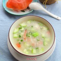 蟹粉丝瓜粥