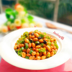 豆豉辣椒炒黄豆