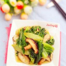 鲜冬菇油麦菜