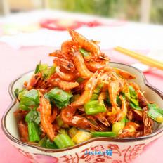 香葱河虾干