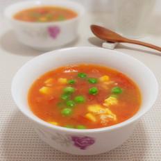 番茄豌豆鸡蛋浓汤