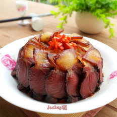 鹽菜蒸臘肉的做法大全