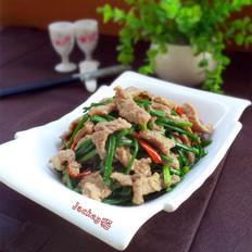 韭苔炒牛肉