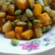 蔬三丁:毛豆土豆南瓜