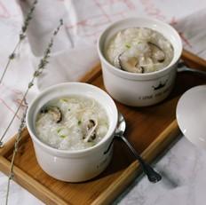 用面包机做香菇鸡丝粥
