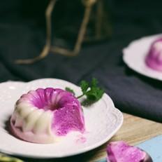 火龙果酸奶冻芝士