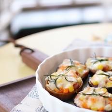 迷迭香培根焗香菇