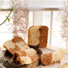 可可双色面包(面包机版)