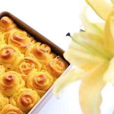 南瓜蔓越莓玫瑰花小面包