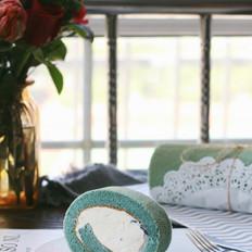 蝶豆花奶油蛋糕卷的做法