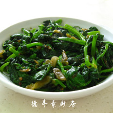 腌菜炒豌豆尖