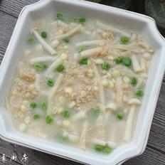 鲜菇麦片玉米浓汤