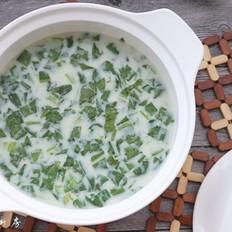 花生豆奶菜汤