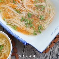金针菇胡萝卜汤