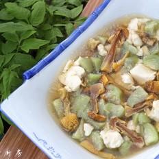 姬松茸丝瓜豆腐汤