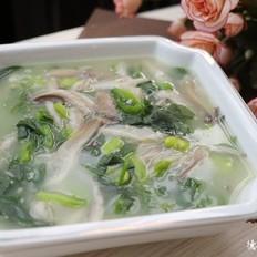 平菇豆瓣浓汤
