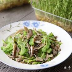 平菇炒苦瓜