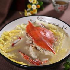 鸡汤白菜煲海蟹——捷赛私房菜