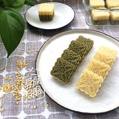 双味绿豆糕的做法