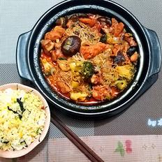 韩式酱香鸡公煲