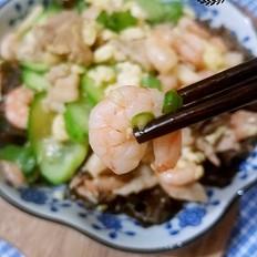 霸王超市丨虾仁木须肉