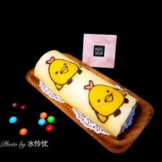 彩绘蛋糕卷(小鸡快跑)