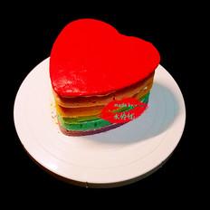 彩色心形蛋糕胚