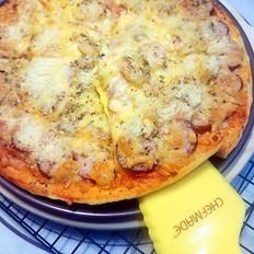 火腿培根薄底披萨