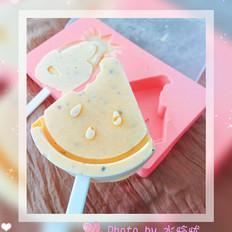 芒果+百香果冰棍