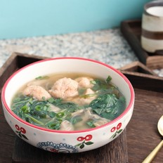 虾滑菠菜汤