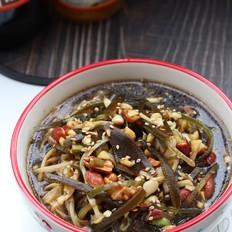 金针菇拌海带丝