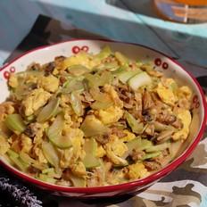 茭瓜蛤蜊炒鸡蛋