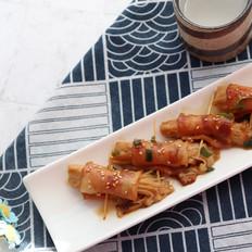怎么吃都不腻的金针培根卷,做法超级简单,厨房小白也可轻松掌握