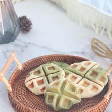 抹茶奶香华夫饼,发酵版本的哟