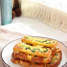 葱花奶香吐司条︱快手好吃的小食
