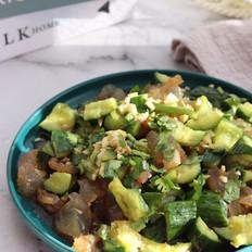 黄瓜拌海蜇头,健康低脂,清新爽口超好吃