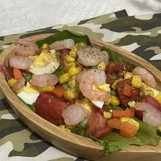 虾仁鸡蛋沙拉,健康低脂减肥必备!的做法