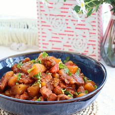 小鲍鱼红烧肉炖土豆,超级下饭哟!的做法