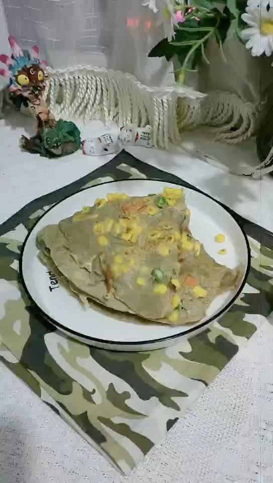 健康营养的荞麦玉米饼,做饭简单很好吃哟的做法
