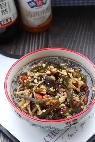 金针菇拌海带丝的做法