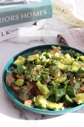 黄瓜拌海蜇头,健康低脂,清新爽口超好吃的做法