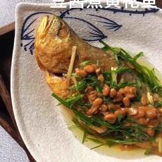 豆酱煮黄花鱼
