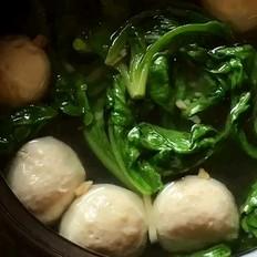 茼蒿肉丸汤