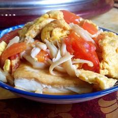 杂炒鸡蛋豆腐