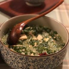 小白菜烩豆腐