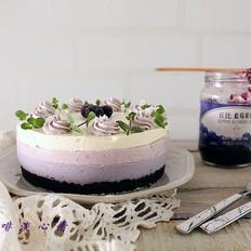 渐变蓝莓冻芝士蛋糕#丘比蓝莓果酱#的做法