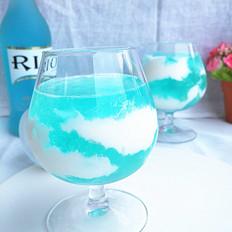 藍天白云果凍