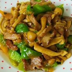 滑子蘑炒肉