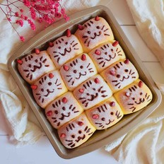 南瓜小米猫咪面包