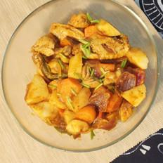 红咖喱鸡肉炖杂蔬